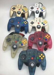 ASCII-Nintendo-64-N64-Turbo-Controller-Licensed-Silver-Gold-Blue-Clear-Red-Teal