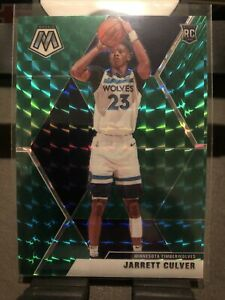 2019-20-PANINI-MOSAIC-NBA-BASKETBALL-GREEN-PRIZM-JARRETT-CULVER-RC