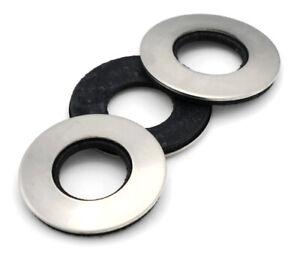 "1//4/"" Neoprene 316 Marine Grade Rubber Bonded Sealing Washers 316 Stainless Stee"