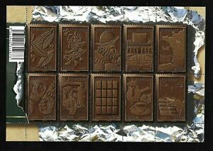 Bloc-Feuillet-2009-N-F4357-Timbres-France-Neufs-Le-Chocolat