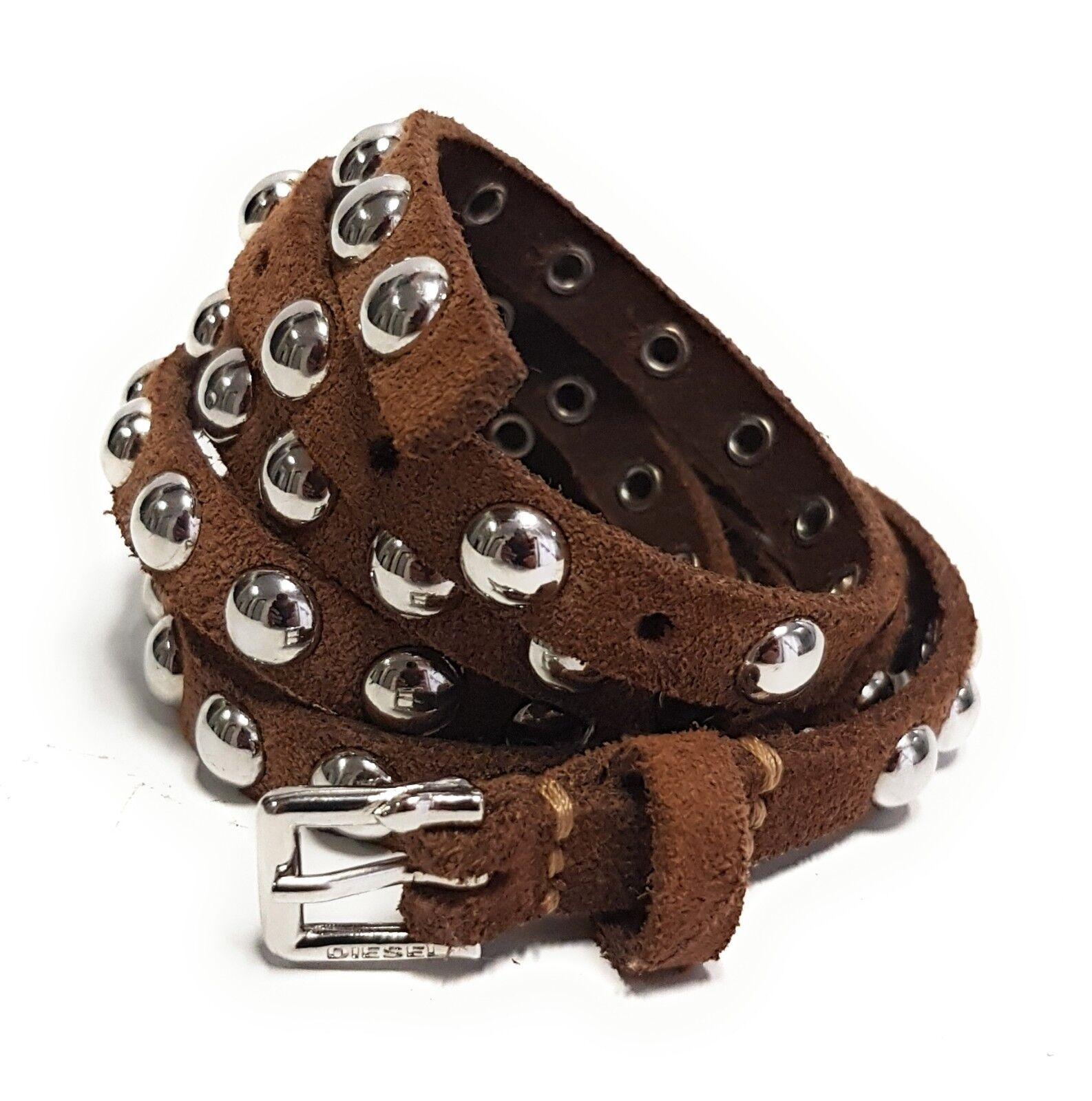 DIESEL Leder Designer Gürtel BENZIL Leather Belt Cintura Riemen 85cm 00SHTQ #54