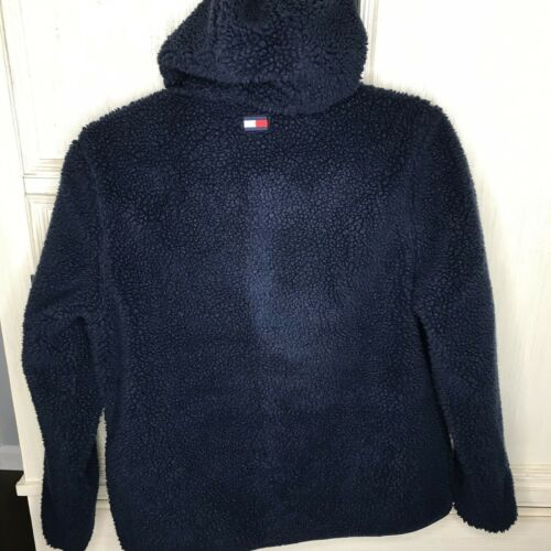 NWT Tommy Hilfiger Cold Stop Utility Mens Full Zip Fleece Jacket Flag Size Large