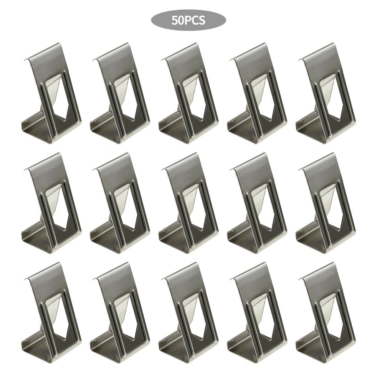 Silver Metal Spring Turn Clip Hanger For Frame 3D Printer Heated Bed 50Pcs