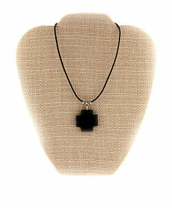 Unisex-Black-Onyx-Artisan-Cross-Pendant-Necklace-Reiki-Healing-Crystal-Jewelry