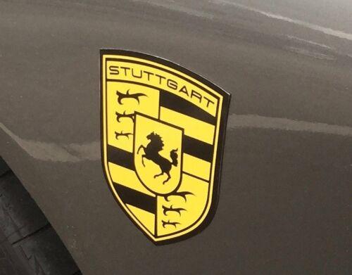 STUTTGART The Home of Porsche Magnetic Fender Badge Emblems (SET OF 2)