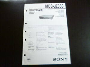 Original-Service-Manual-Schaltplan-Sony-MDS-JE330