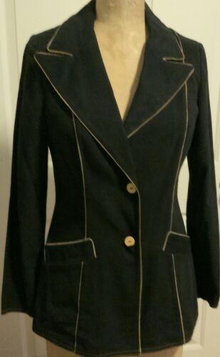 Women's Roncelli Vintage Black Cotton Blazer Size