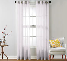 "GROMMET TOP SHEER VOILE CURTAIN PANEL - 54"" WIDE X  84"" LONG CURTAINS"