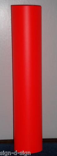 FLUORESCENT RED SELF ADHESIVE VINYL 610mm x 1mtr