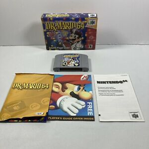 Dr-Mario-64-Nintendo-64-2001-N64-Complete-In-Box-amp-Manual-Authentic-Tested