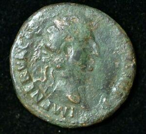 Rara moneda Nerva romana Dupondius gran condición AE 27mm, 10.2g