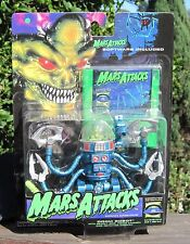 1996 Trendmasters Mars Attacks Action figure Doom Robot W/Software Disk #1  MOC