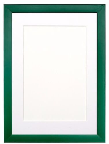 RAINBOW PICTURE FRAME PHOTO FRAME POSTER FRAME LIGHT GREEN /& GREEN WITH MOUNT
