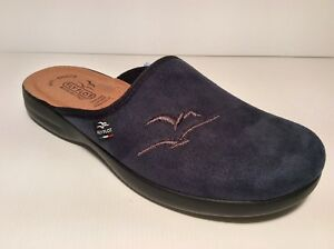 FLY FLOT P7962 WE COL BLUE SLIPPERS MAN INSOLE LEATHER SOLE RUBBER ... 139f55b0748