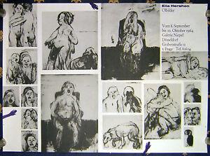 EILA-HERSHON-German-Exhibition-Poster-Ausstellungsplakat-1964-Duesseldorf