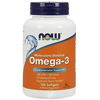 Omega-3 1000mg 100 Softgels, Now Foods