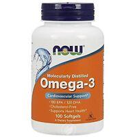 Omega-3 1000mg 100 Softgels, Now Foods