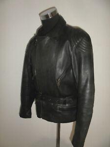 vintage-POLO-Motorradjacke-Leder-Bikerjacke-90s-oldschool-motorcycle-jacket-L