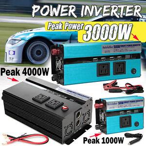 Car Electronics Power Inverter DC 12V to 110V 120V AC Converter Adapter Charger