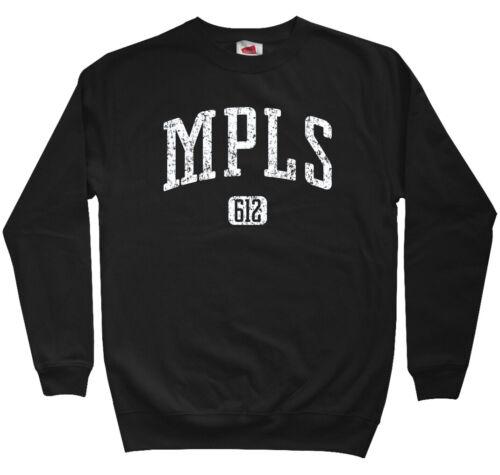 Minneapolis 612 Sweatshirt Men S-3XL Minnesota Twins Vikings MPLS Crewneck