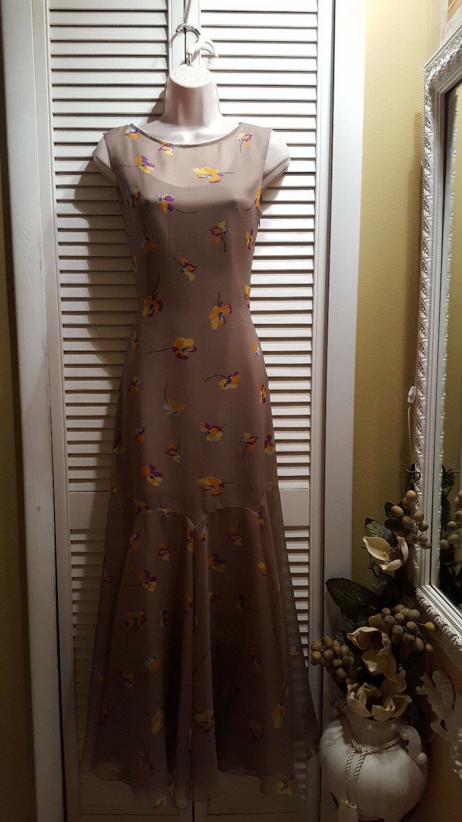 New Free People Maxi Dress Sleeveless Floral Size XS