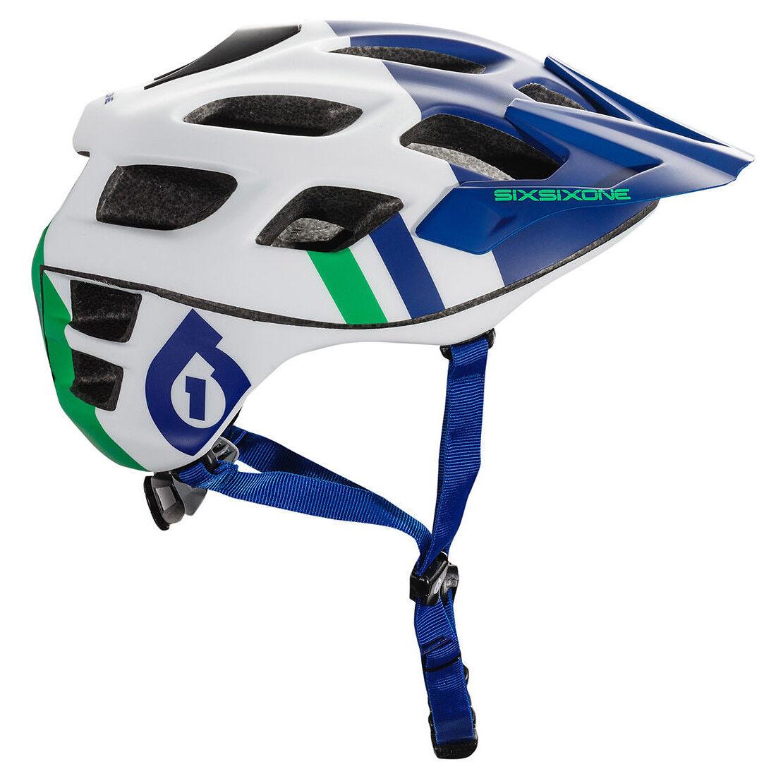 661 Sixsixone Recon MTB Mountain Bike Casco da Bicicletta  Bluverde