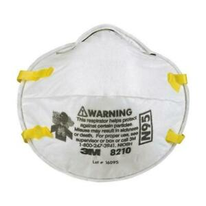 Pack of 3 3M 8210 N95 NIOSH Aprroved Particulate Respirator Face Mask