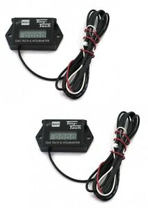 Details about (2) New DIGITAL Commercial TINY TACH Hour Meter / Tachometer  & Service Reminder