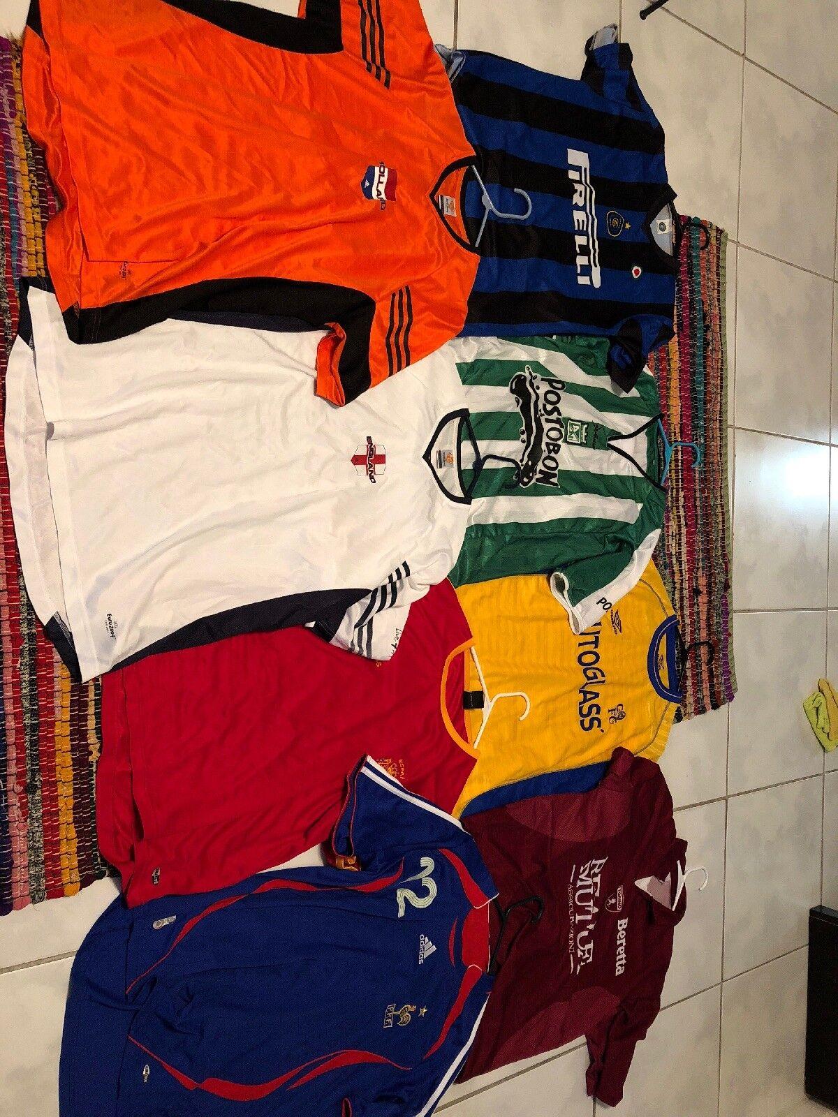 Camisetas de fútbol grandes y XL