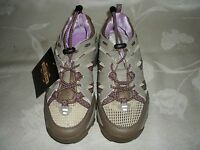 Womens Guide Gear Sand/orchid Vented Athletic Shoes W/drawstring Laces. Sz 6d