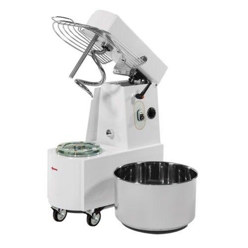 Teigknetmaschine Spiralkneter Teigkneter Edelstahl Kessel 41 Liter Gastlando