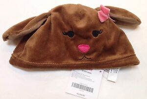 GYMBOREE POLKA DOT PUPPY DOG FACE BEANIE HAT 0 3 6 12 18 24 NWT