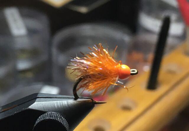 Glow Bug Orange Salmon Steelhead Trout Wet Fly 1 DZN Size 6