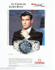 PUBLICITE ADVERTISING  026  2002  Omega montre Seamaster James Bond 007 P. Brosn
