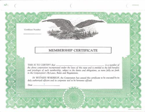 Pack of 100 Free Shipping via UPS Member Certificates Duke 6