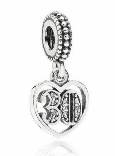 30 Years of Love Birthday Pandora Charm 925 Sterling Silver NEW Free Post