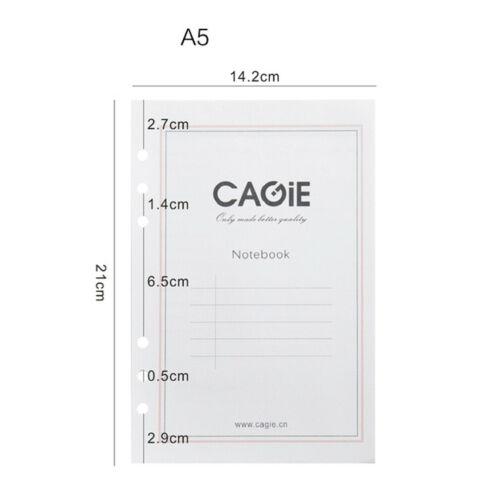 A5//A6 Size Diary Notebook Insert Refill Note Paper Calendar Organiser 80 Sheets