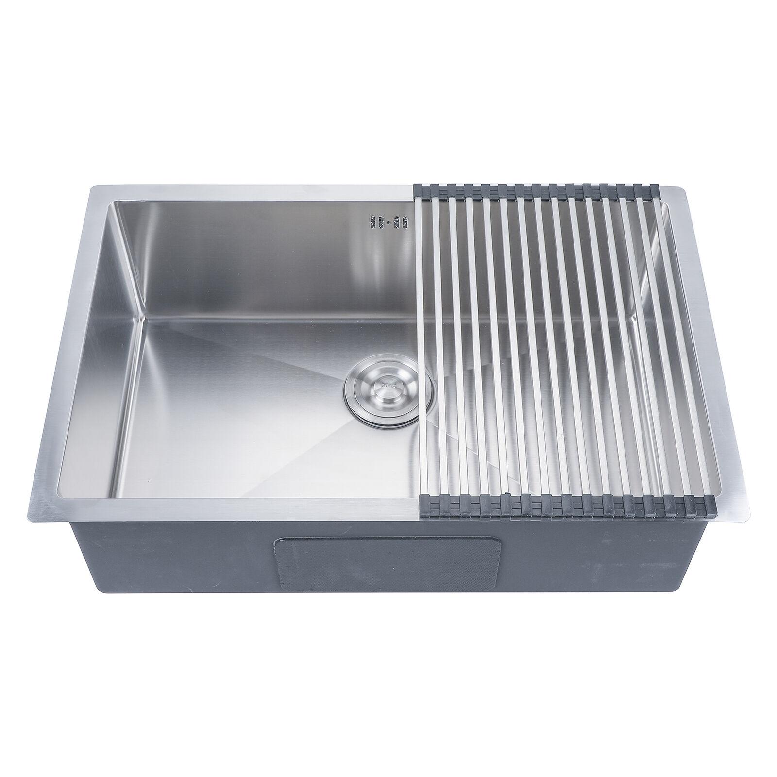 18 Gauge Undermount Stainless Steel Kitchen Sink Single Bowl 9\