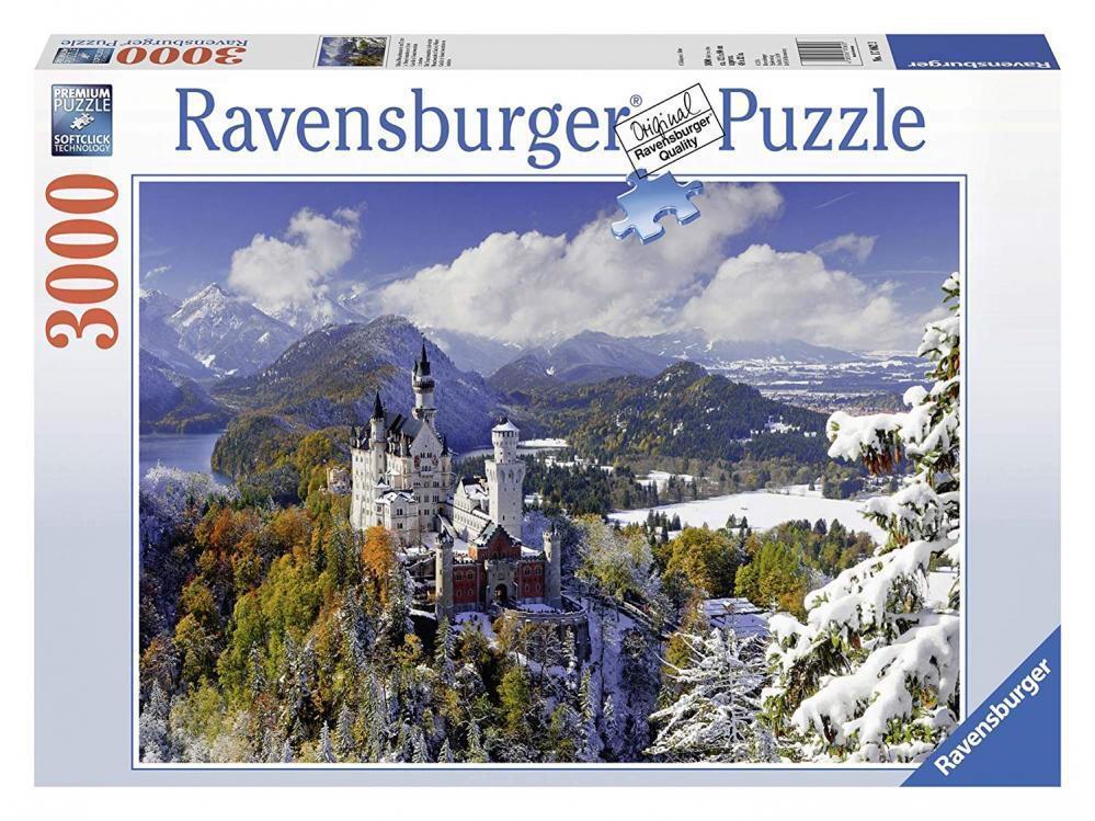 3000 Teile Puzzle Ravensburger Schloß Neuschwanstein Winter für Erwachsene NEU
