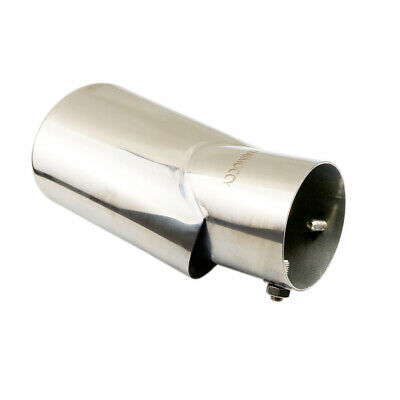 US SHIP Silver Exhaust Pipe Car Tail Muffler Tip Trim Cover 56mm Inlet Universal
