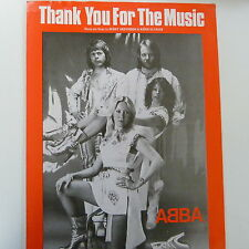 song sheet THANK YOU FOR THE MUSIC, Abba, 1977