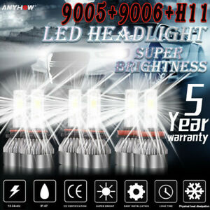 Combo-9005-9006-H11-LED-Headlight-Hi-Low-Beam-Bulb-6500K-7000W-980000LM-Fog-Ligh