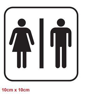 Image Is Loading Toilet Sign Sticker Decal Bathroom Restroom Men Women