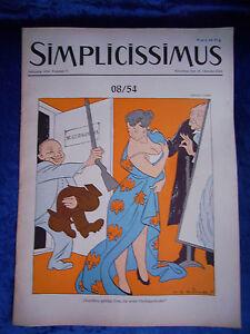 """""""simplicissimus-vol-nº 2 Du 16. Octobre 1954""""-s - Heft-nr. 2 Vom 16. Oktober 1954"""" Fr-fr Afficher Le Titre D'origine Parfait Dans L'ExéCution"""