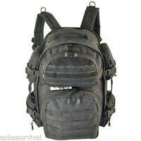 Explorer Black Tactical Backpack Tote Multiple Pockets Survival Emergency Kits