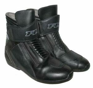 ">>> "" FLM "" Motorradstiefel / Biker- Stiefel / Boots in schwarz ca. Gr. 40,5"
