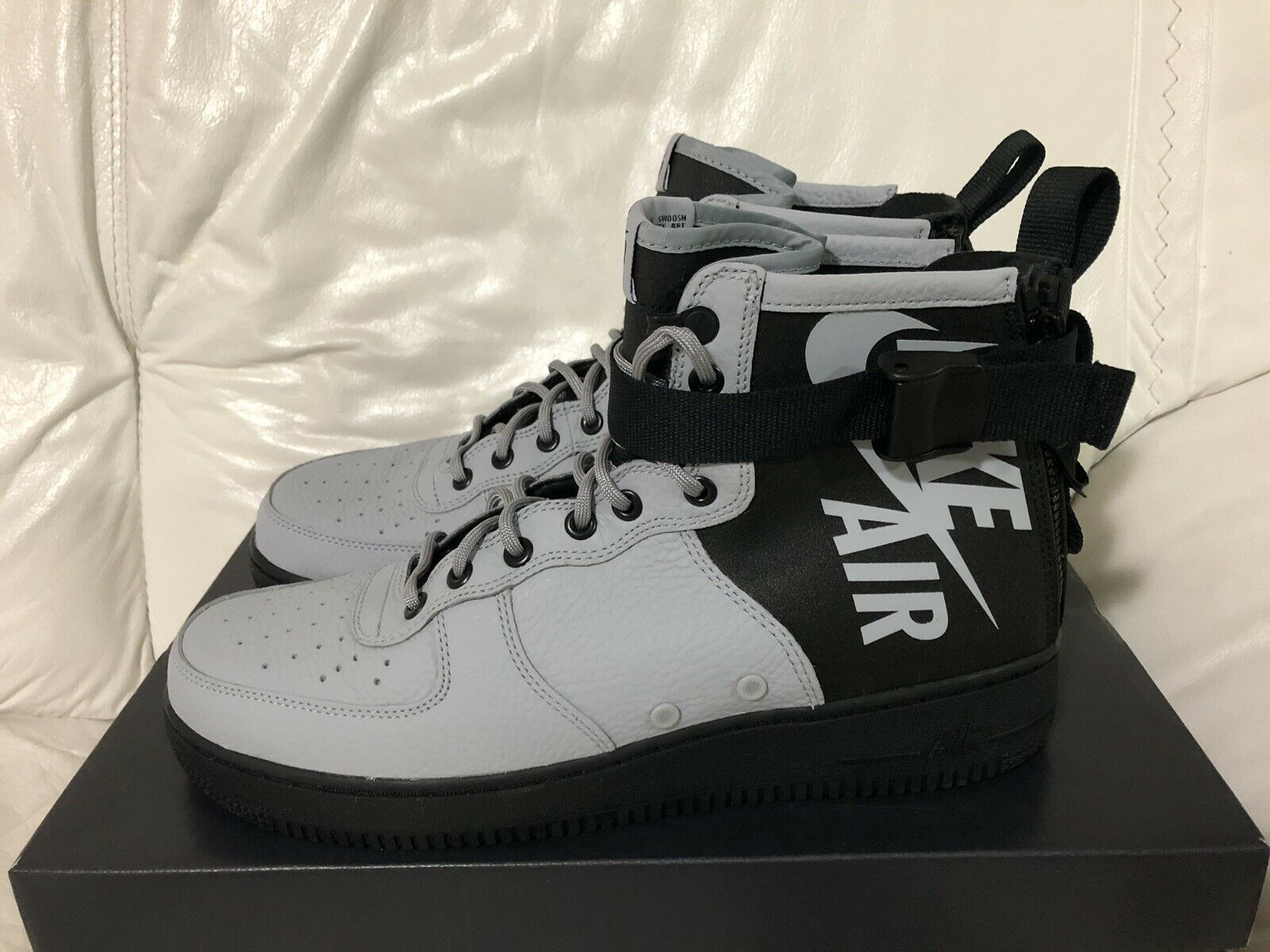 Nike SF AF1 Mid Special Forces Air Force One Wolf Grey Black New