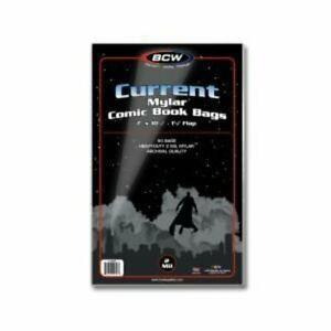 BCW Mylar/Archival 4 mil Comic Bags - Current