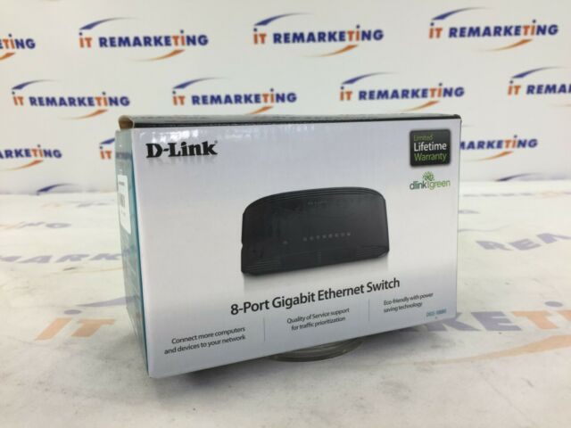 D-Link DGS-1008G 8-Port Gigabit Desktop Switch 10//100//1000 ETHERNET Network