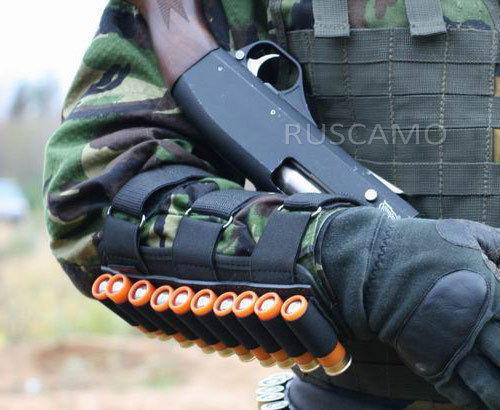 Tactical 10 Shotgun Shell bandolier on hand 12 Gauge Ammo Holder
